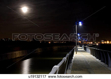 Picture of England, Portsmouth, Southsea, The walkway alongside.