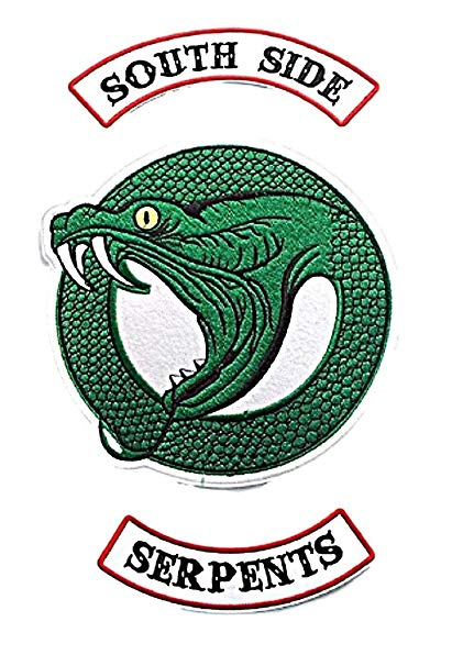 Riverdale TV Show Southside Serpent 3 Piece Set Iron On Large 9\