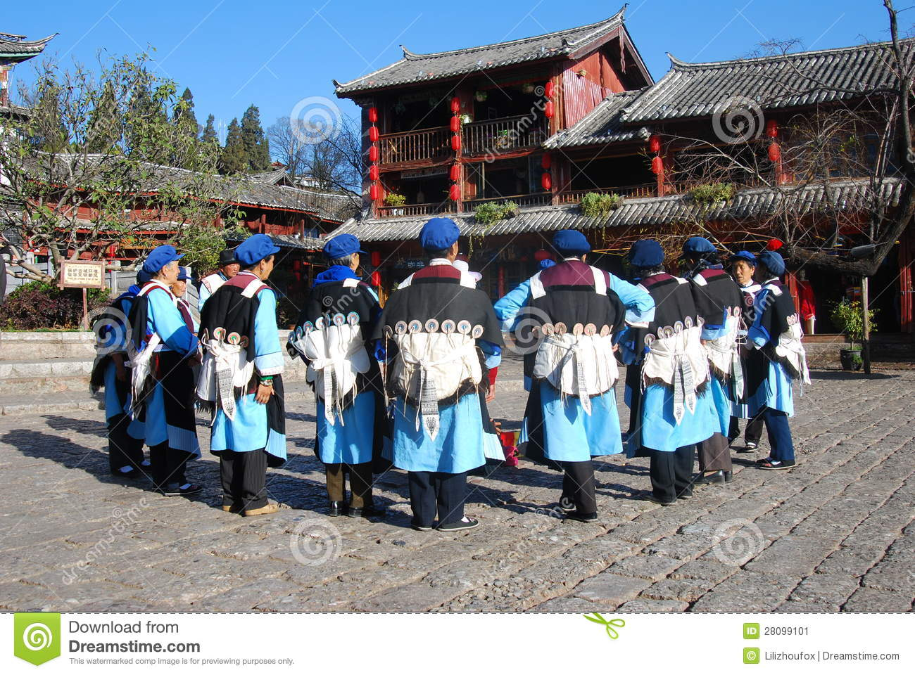 Naxi People In Southwest China Editorial Image.