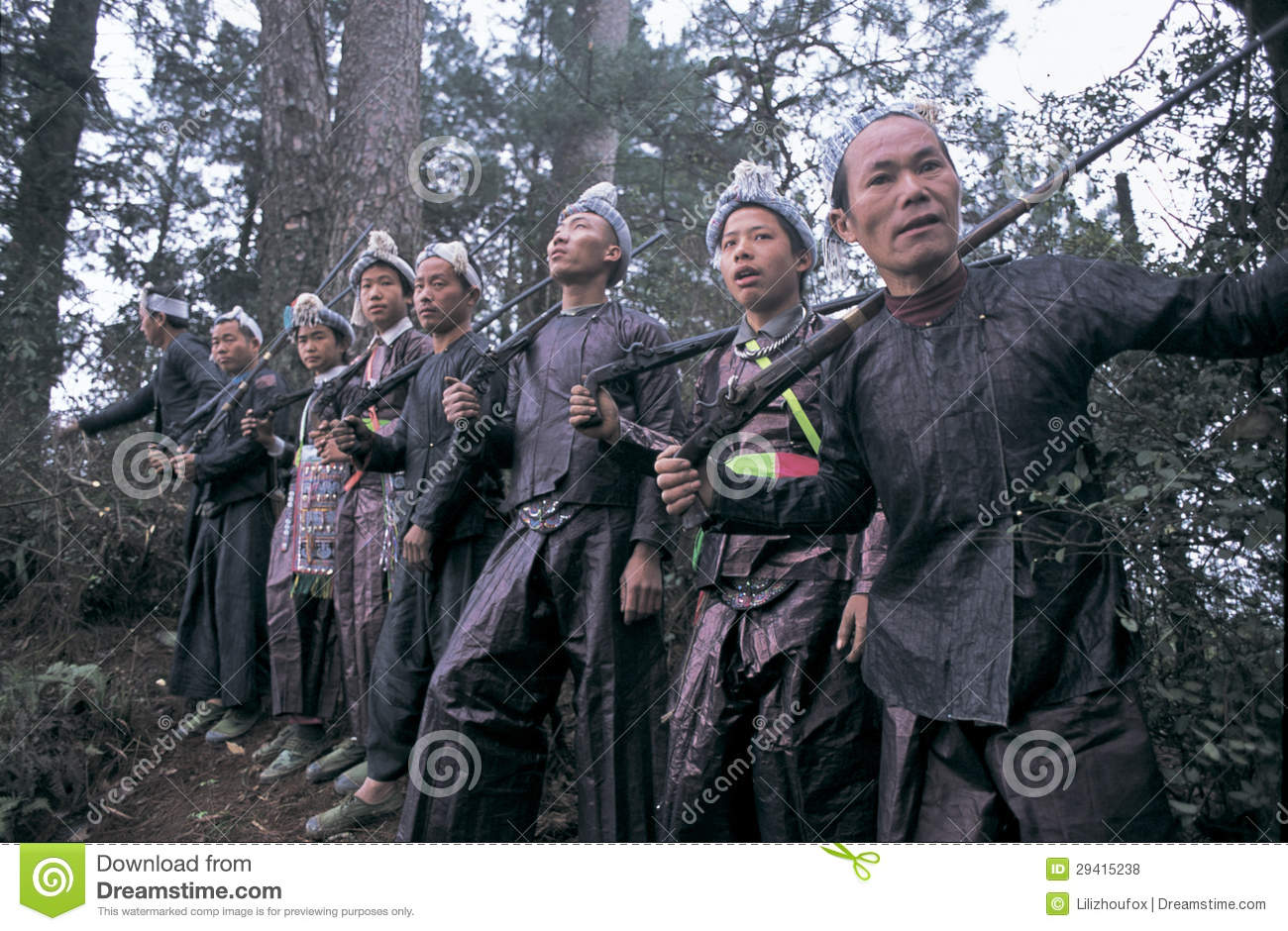 Hmong In Southwest China Editorial Image.