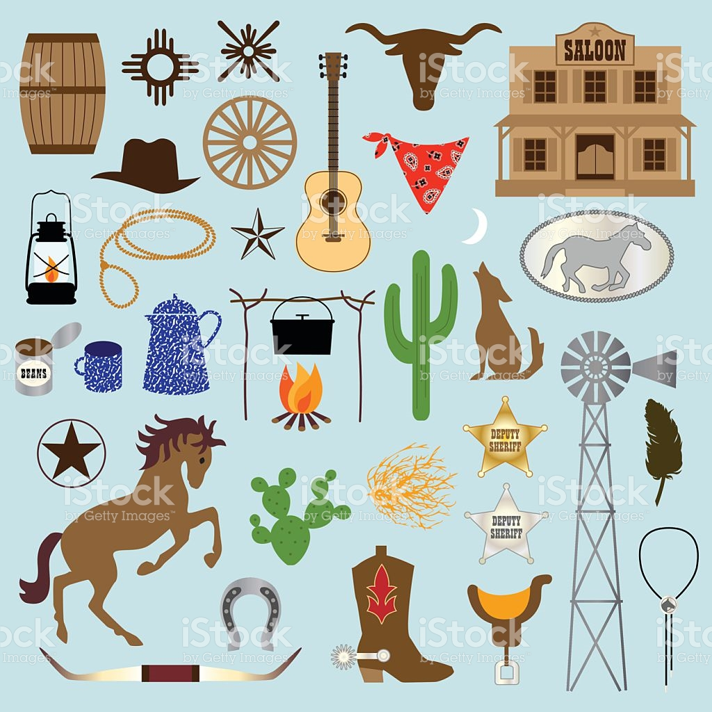 Cowboy Clipart stock vector art 483923886.