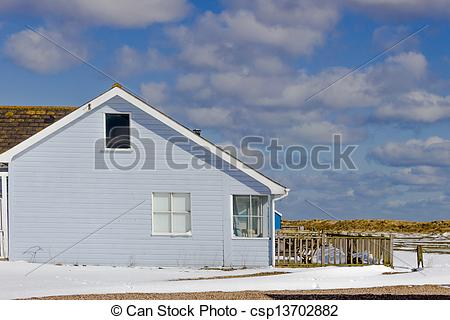 Pictures of Southwold Beach Holiday House in Winter.
