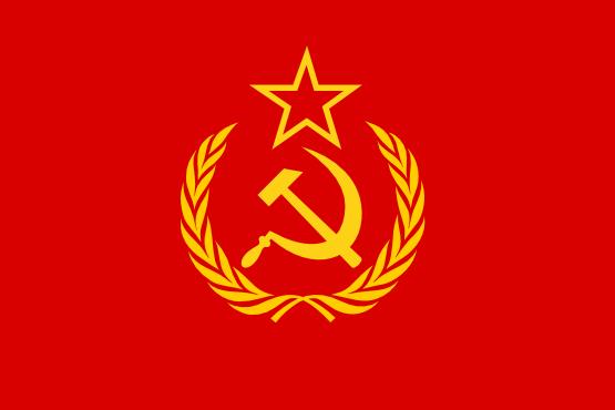 Soviet flag clipart.