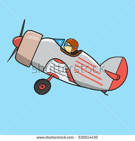 Cartoon Fighter Plane Stock Photos, Royalty.