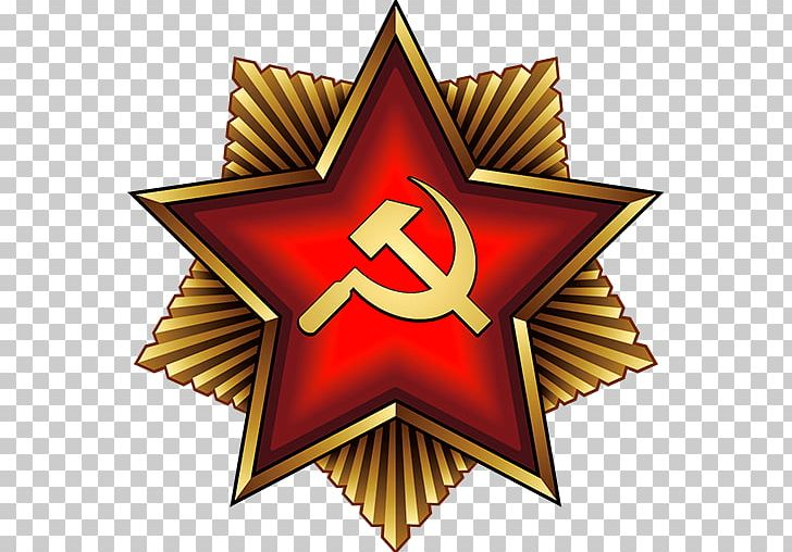 Soviet Union Hammer And Sickle Red Star Communism PNG.