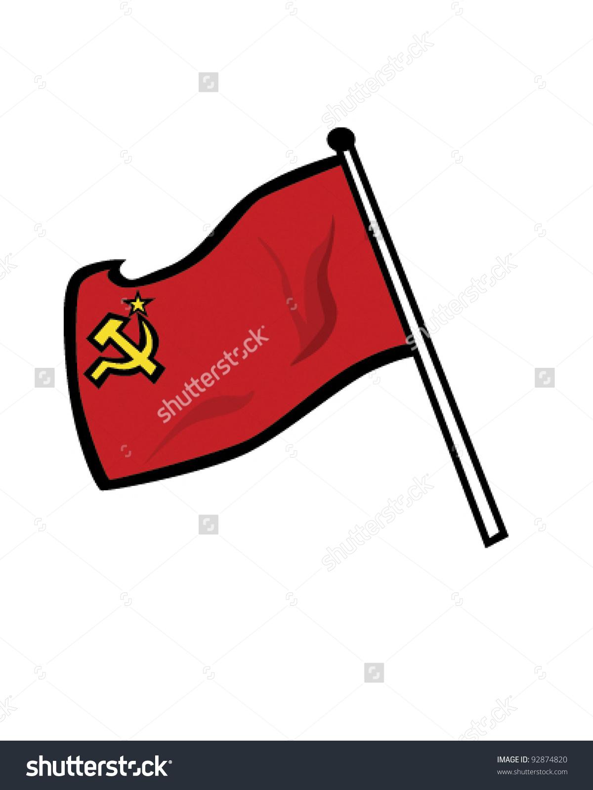 Soviet union flag clipart.