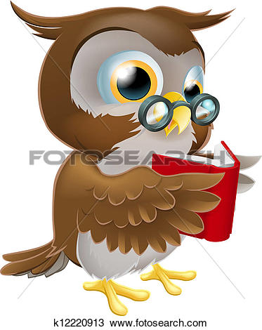 Clip Art of Teacher owl pointing k12840347.