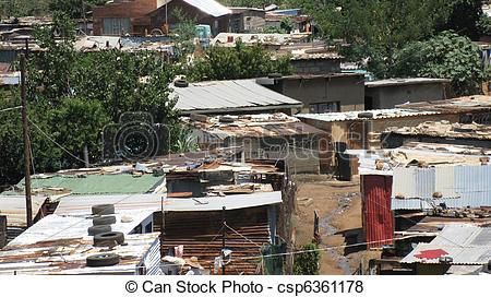 Pictures of Soweto houses.