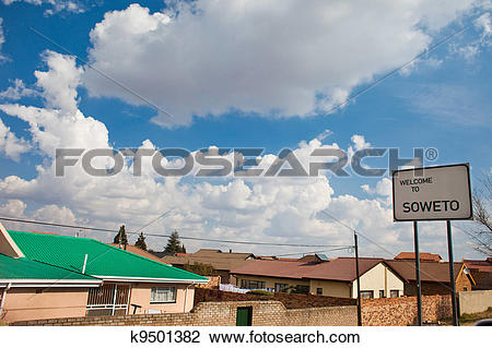 Stock Photo of Soweto sign wide k9501382.