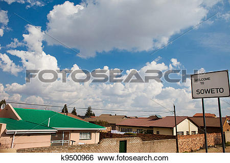 Stock Images of Soweto sign full height k9500966.