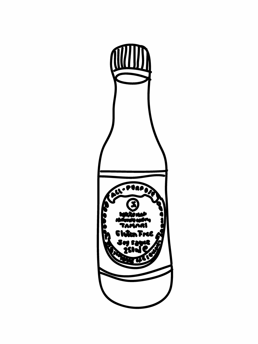 Soy sauce clipart.