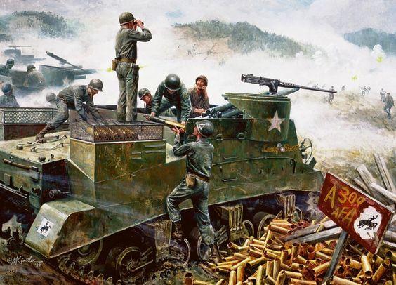 American Artillery at Soyang, Korean War.
