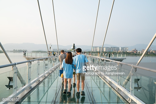 A Skywalk On Soyang River Stock Photo.