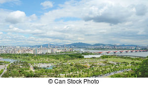Picture of Landscape of Soyang River in Inje, Korea csp25909879.