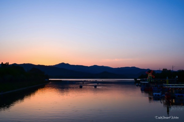 Sunset on the Soyang River, Chuncheon South Korea.