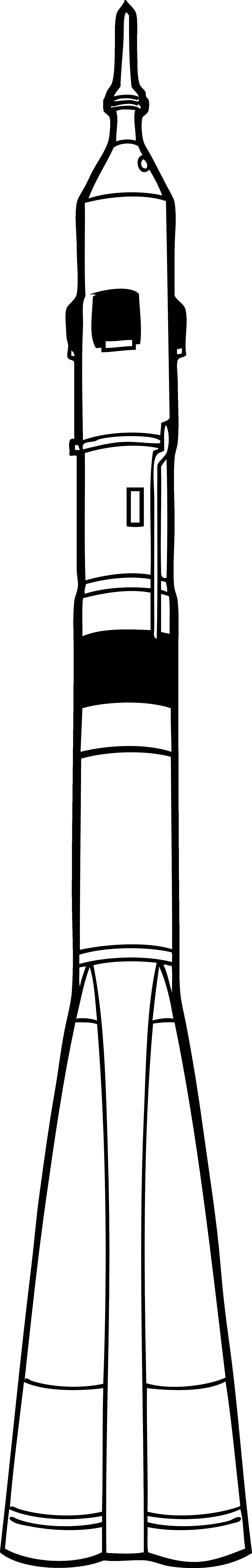 soyuz rocket black white line art coloring book.