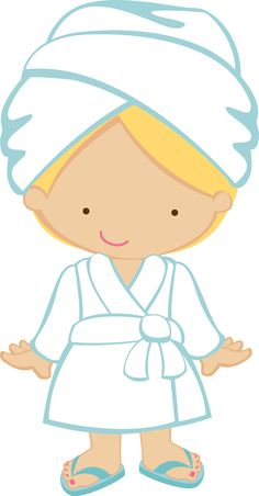 Spa girl clipart.