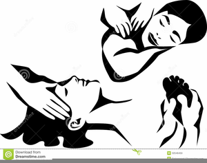 Black And White Spa Clipart.