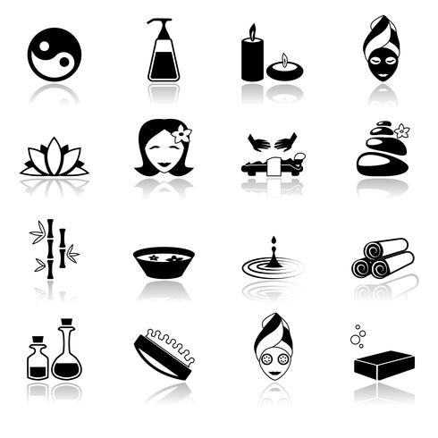 Spa icons black.