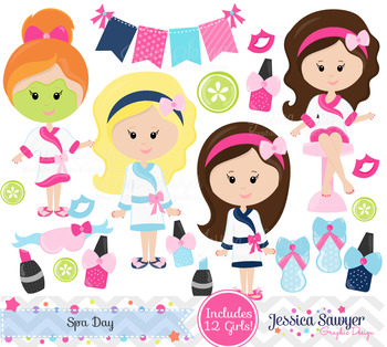 Spa Day Clipart and Vectors.