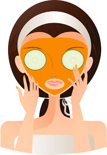Spa Face Mask Clipart.