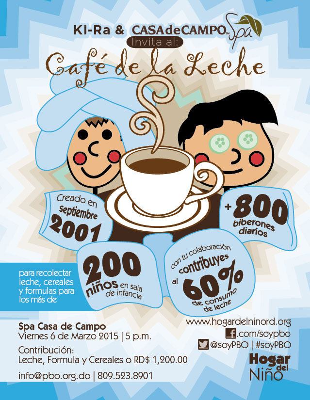 Café de la Leche at the Casa de Campo Spa.
