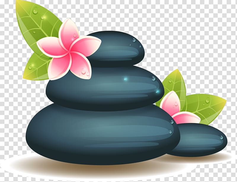 Spa Stones transparent background PNG cliparts free download.