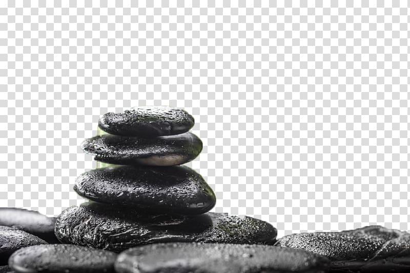 Stack of black stones, Stone massage Spa, Stone massage.