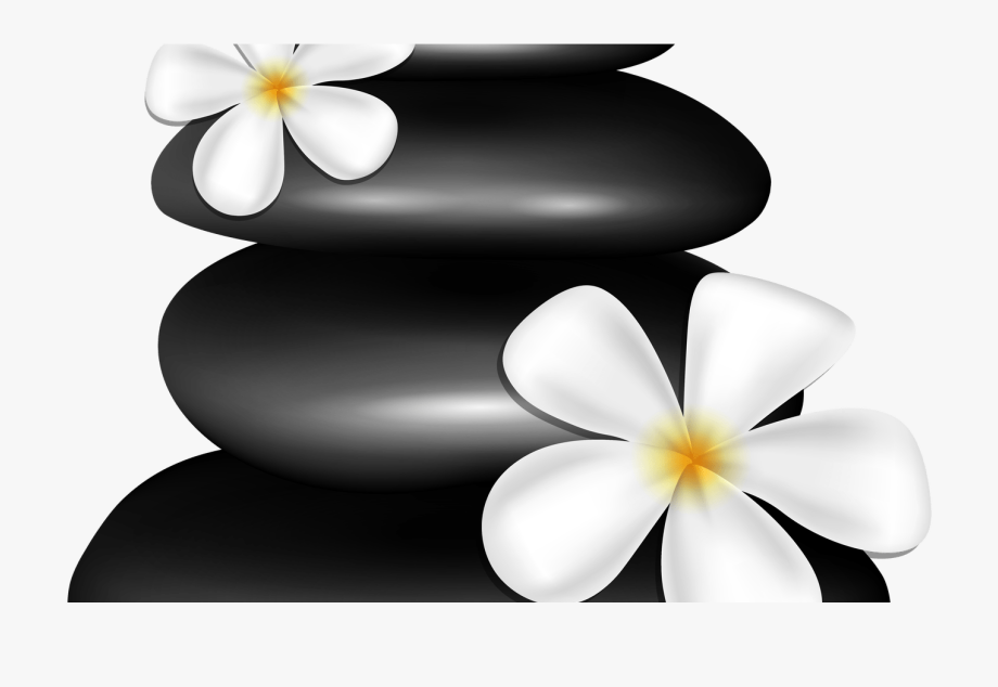 Spa Stones With White Flowers Png Clipart Image Gallery.