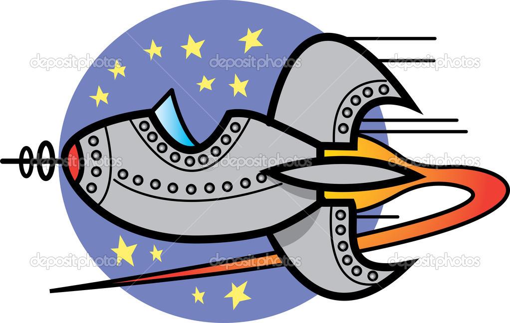 Space ship clip art.