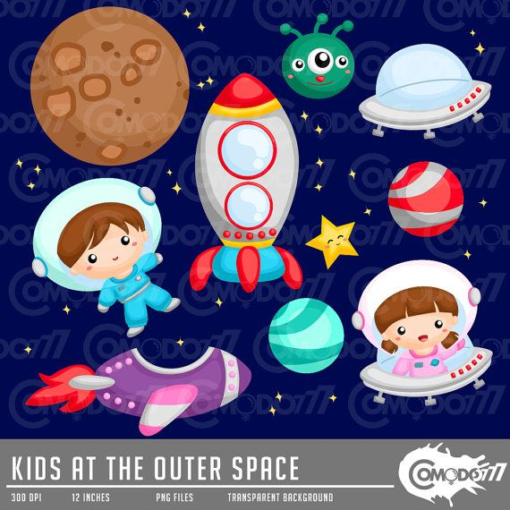 Galaxy and Space Clipart.