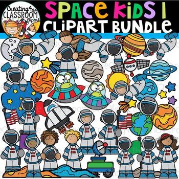 Space Kids 1 Clipart Bundle {Space Clipart}.