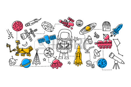179,806 Space Science Stock Vector Illustration And Royalty Free.