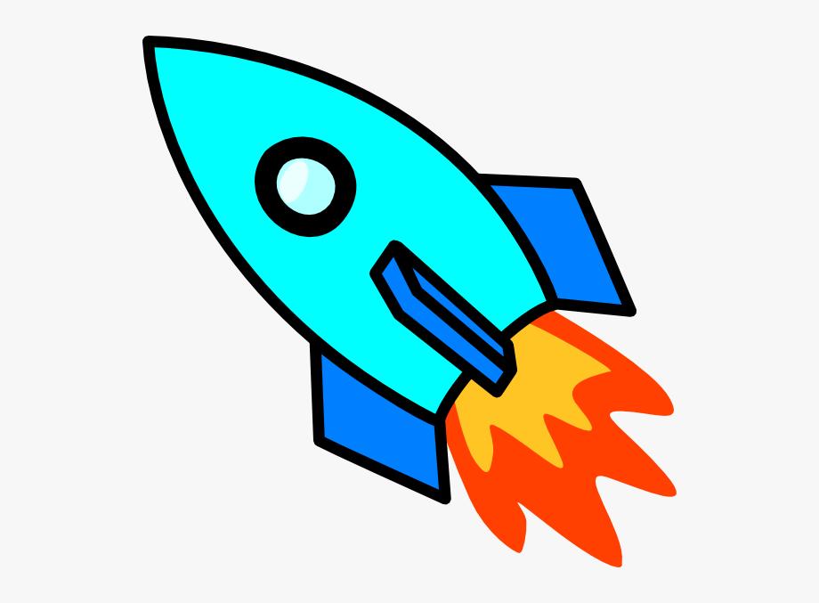 Light Blue Rocket Clip Art At Clker Ⓒ.