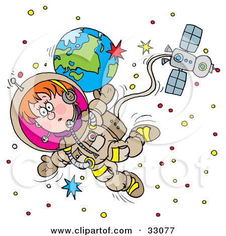 Clipart Astronaut In A Space Suit.