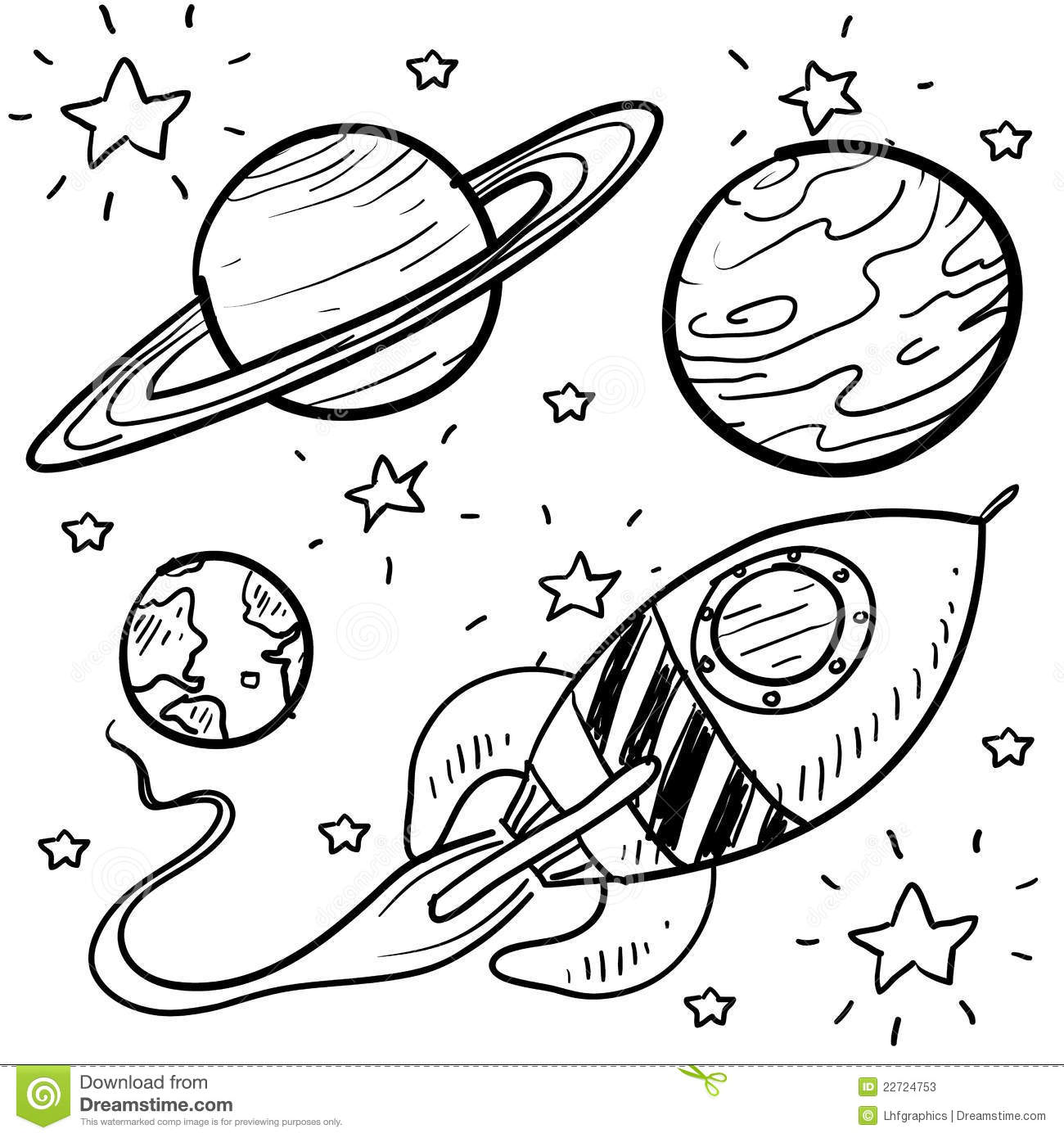 Astronaut Space Exploration Clipart Stock Vector.