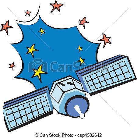 Clip Art of satellites.
