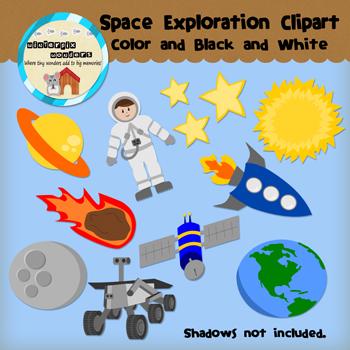 Space exploration clipart.