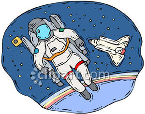 Clipart astronaut in space.