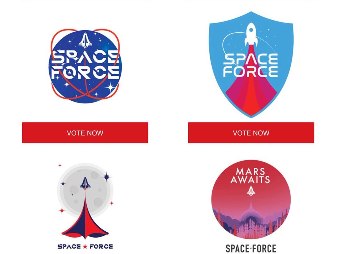 Space Force: Trump campaign asks supporters to vote for logo.