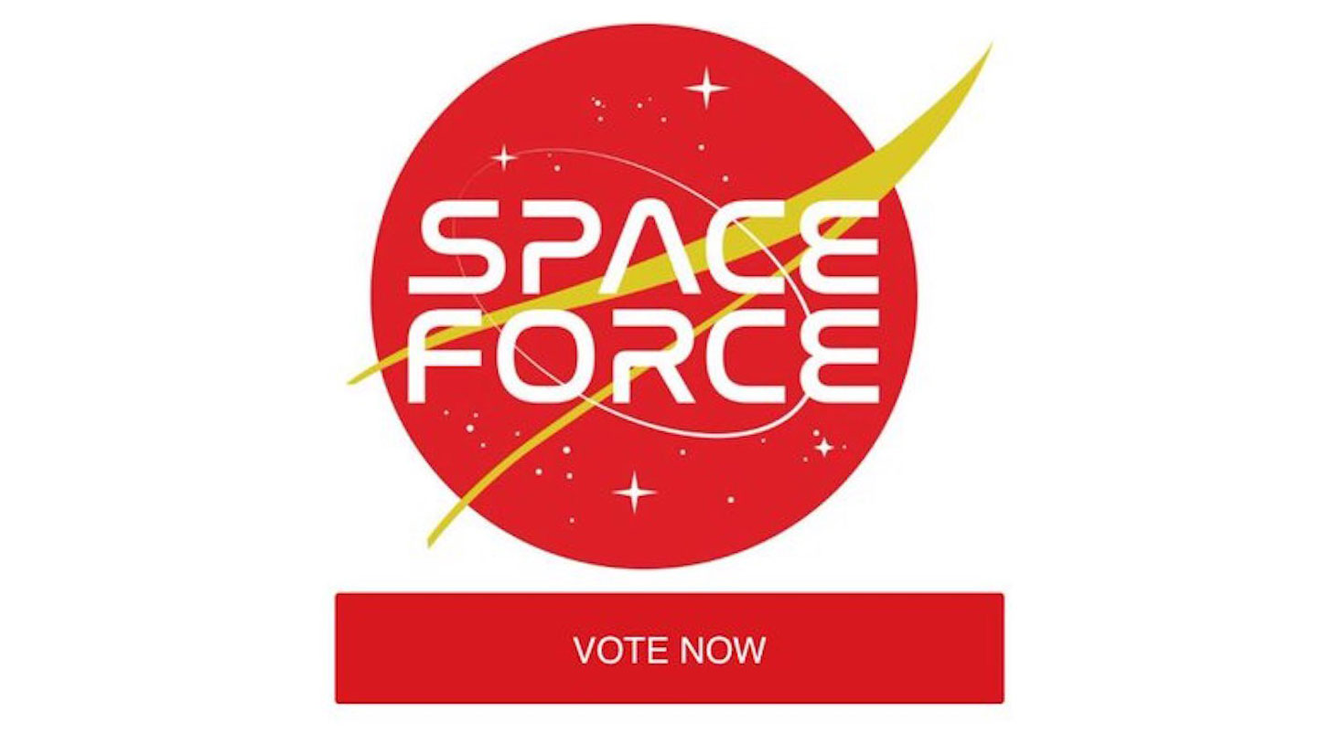 Trump supporters to vote on Space Force logo.