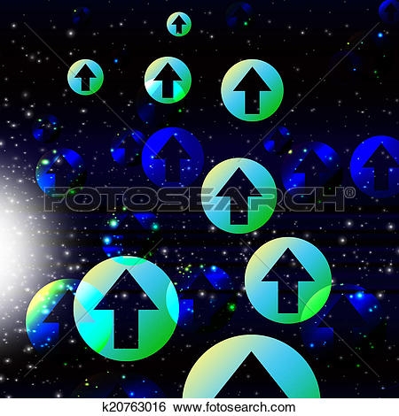 Stock Illustration of Arrows Space Background Shows Direction And.