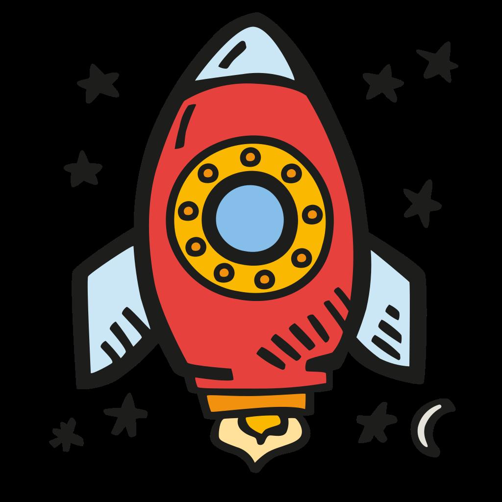 Space rocket Icon.