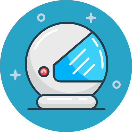 cosmos helmet safety security space icon.