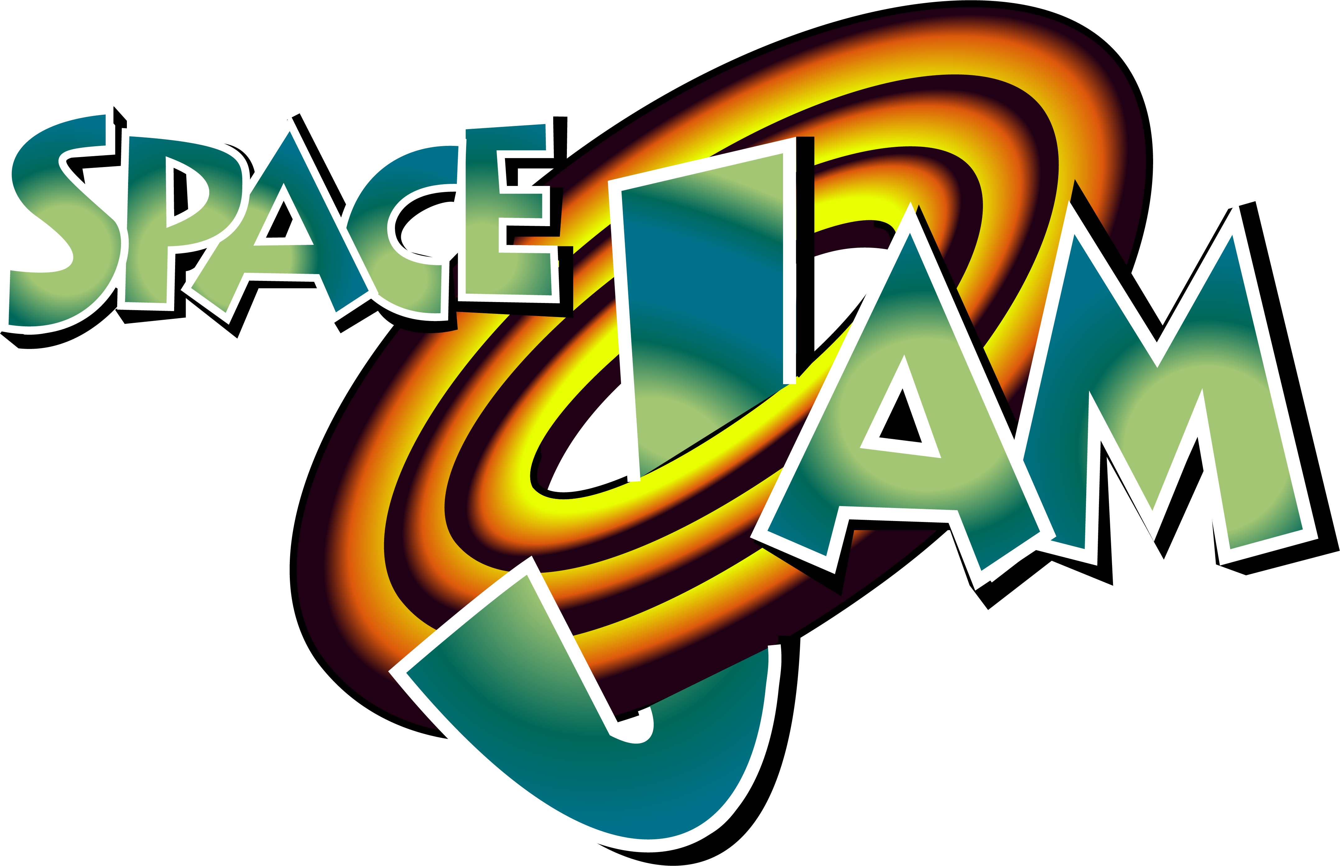 I did a vector of the Space Jam logo for a Graphic Design.