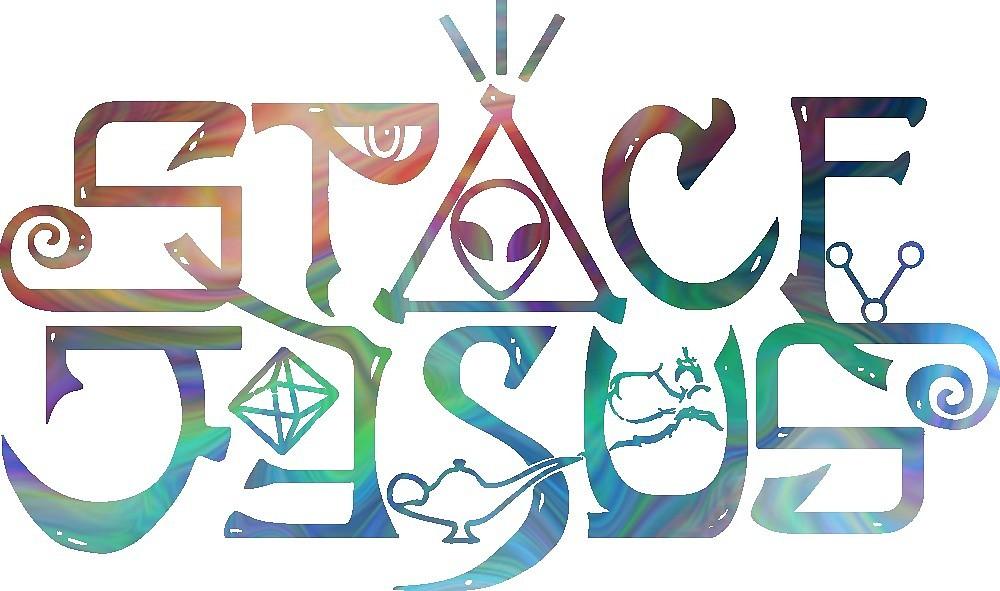 Logotipo de Space Jesus» de meganinsane.