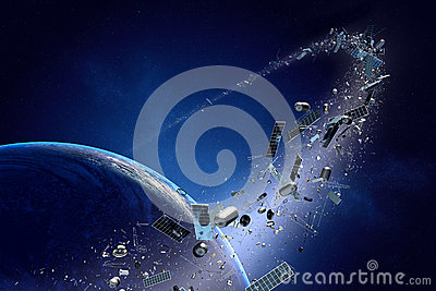 Space Debris Royalty Free Stock Images.