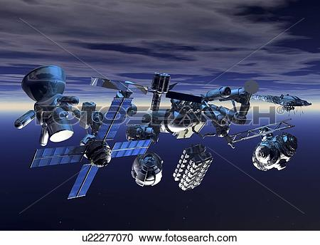 Stock Illustrations of Space junk, artwork u22277070.