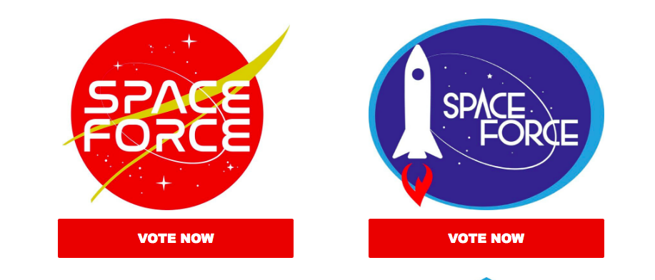 Space Force is in the market for a logo and President Trump.