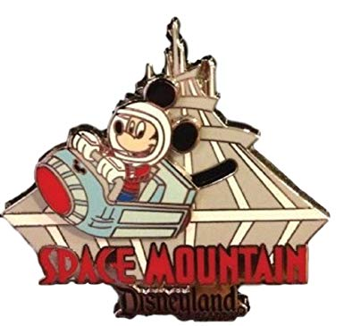 DISNEYLAND Resort Mickey on Space Mountain Trading Pin.